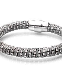 Bratara Argint Grey Sparkle
