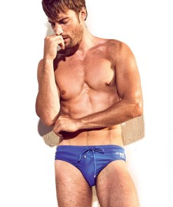 Slip de baie barbatesc DAVID 52 Basic Slip Royal Blue