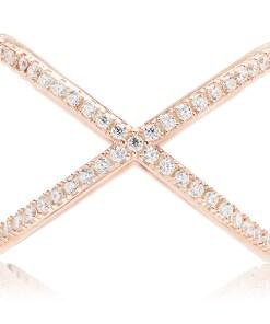 Inel Argint Pink White X