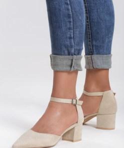 Pantofi cu toc Nolla Bej
