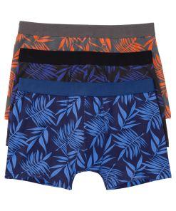 Boxer (3buc/pac) bonprix - negru-albastru-oranj imprimat
