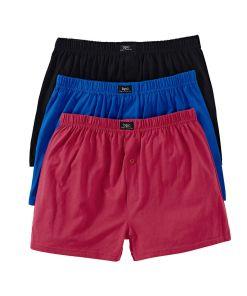 Chilot Boxer lunga bonprix - negru-albastru-rosu