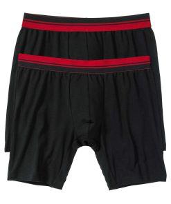 Chilot Boxer bonprix - negru/rosu închis