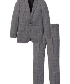 Costum cu 2 piesa: sacou și pantaloni bonprix - gri cadrilat