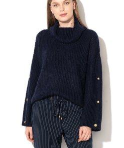 Pulover din amestec de lana - cu guler inalt 1600025