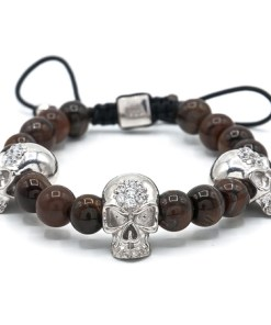 Bratara argint, AR Jewels & Diamonds, skull collection, ar1802
