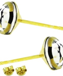 Cercei Argint placati cu aur galben cu swarowski 925