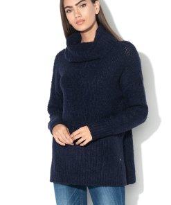 Pulover din amestec de lana - cu guler inalt 2177165