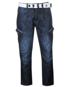 Blugi slim fit Airwalk Belted Cargo Jeans Mens