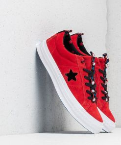 Converse x Hello Kitty One Star OX Fiery Red/ Black/ White