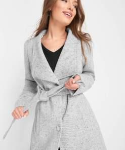 Palton cu lână - Gri
