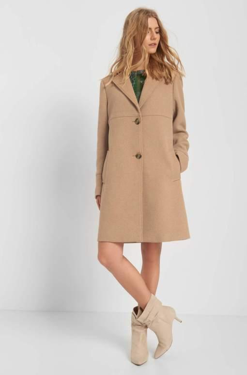 Palton cu amestec de lână - Bej
