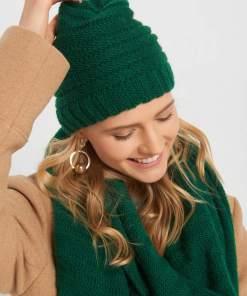Căciulă beanie din tricot - Verde