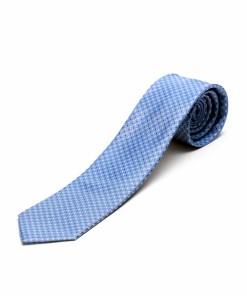 Cravata Matase Bleu Floral CR007-143