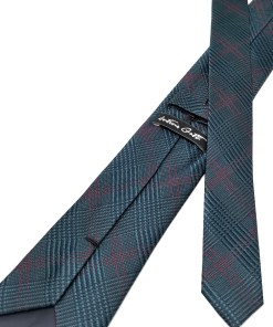 Cravata Matase Vernil In Carouri CR007-103