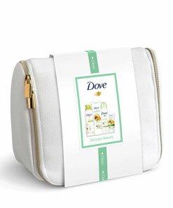 Set cadou: Dove Deluxe Delicate Beauty Collection (spuma de dus, 200ml, antiperspirant spray, 150 ml, lotiune de corp, 250ml, crema de maini, 75 ml)