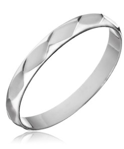 Bijuterii eshop - Inel argint 925 - gravur? romburi lucioasa H15.10 - Marime inel: 50
