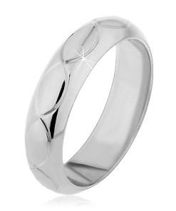 Bijuterii eshop - Inel argint 925 - gravuri forma de bob H12.20 - Marime inel: 49