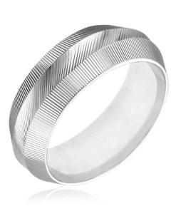 Bijuterii eshop - Inel argint 925 - îngusta suprafata cu zim?i H11.17 - Marime inel: 50
