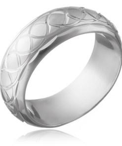 Bijuterii eshop - Inel argint 925 - ochiuri împletita gravate H13.17 - Marime inel: 50