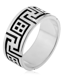 Bijuterii eshop - Inel argint 925 - spirala pe margini si detalii decorative H16.19 - Marime inel: 50