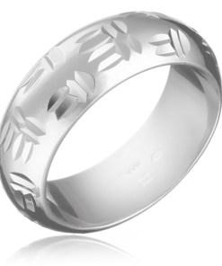 Bijuterii eshop - Inel argint - motiv indian, crestaturi duble H14.11 - Marime inel: 49
