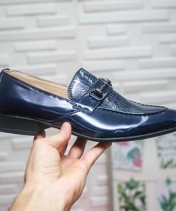 Mocasini barbati albastri Benedict -rl