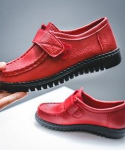 Pantofi dama casual piele naturala rosii Vifali