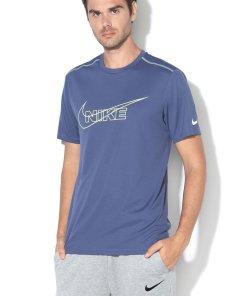 Tricou de plasa - cu logo - pentru alergare