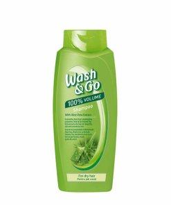 Sampon Wash&Go cu extract de aloe vera, pentru par uscat, 400 ml