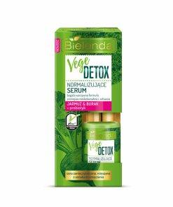 Ser de fata normalizant pentru piele mixta cu Sfecla si Nap + prebiotic Vege Detox, 15 ml