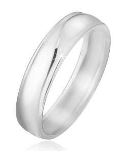 Bijuterii eshop - Verigheta argint 925, suprafata fina, rotunjita, adâncituri pe margini J10.4 - Marime inel: 48