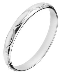Bijuterii eshop - Verigheta din argint 925 - gravuri tip bob H16.10 - Marime inel: 50