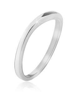 Bijuterii eshop - Verigheta lucioasa, fina, usor curbata, din argint 925 J12.5 - Marime inel: 49
