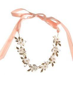 Bentita maleabila, cu flori si panglica roz