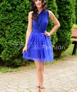 Rochie Versatila cu Tulle Royal Blue
