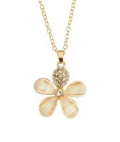 Colier auriu cu pandantiv floare
