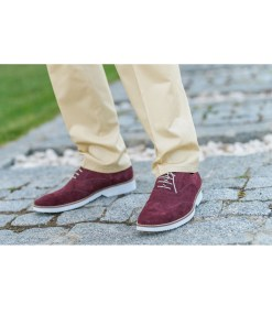 Pantofi Casual Gentlemen`s Corner - Brogue Bordeaux