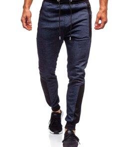 Pantaloni de trening bărbați bleumarin Bolf TC849
