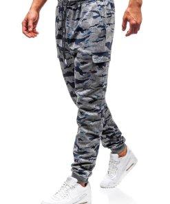 Pantaloni de trening bărbați camuflaj-gri Bolf Q3852