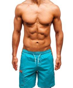 Pantaloni scurți de baie verzi bărbați Bolf 340