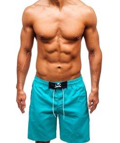 Pantaloni scurți de baie bărbați verzi Bolf 306