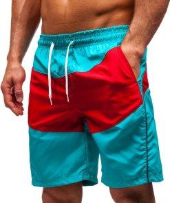 Pantaloni scurți de baie bărbați verzi Bolf 364