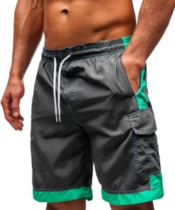Pantaloni scurți de baie bărbați grafit Bolf 337