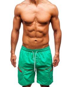Pantaloni scurți de baie bărbați verzi Bolf 341