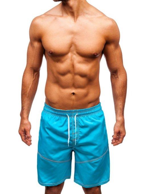 Pantaloni scurți de baie bărbați turcoaz Bolf 349