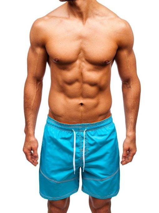 Pantaloni scurți de baie bărbați turcoaz Bolf 348