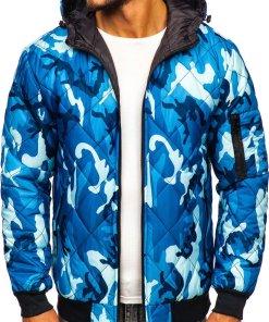 Geacă sport bărbați camuflaj-albastru Bolf MY21M