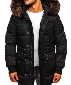 Geacă de iarnă bărbați negru Bolf 99116