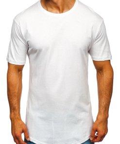 Tricou lung bărbați alb Bolf 14290